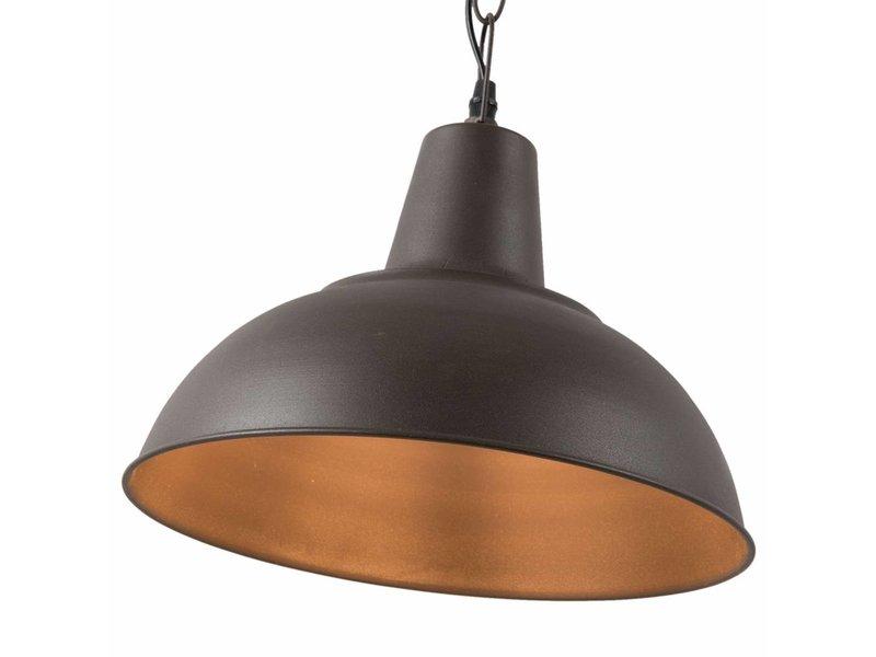 Clayre & Eef Hanglamp Zwart IJzer - Ø30xH73 cm