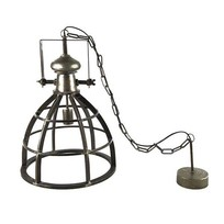 Hanglamp Barbera Donkergrijs - Ø34xH154 cm