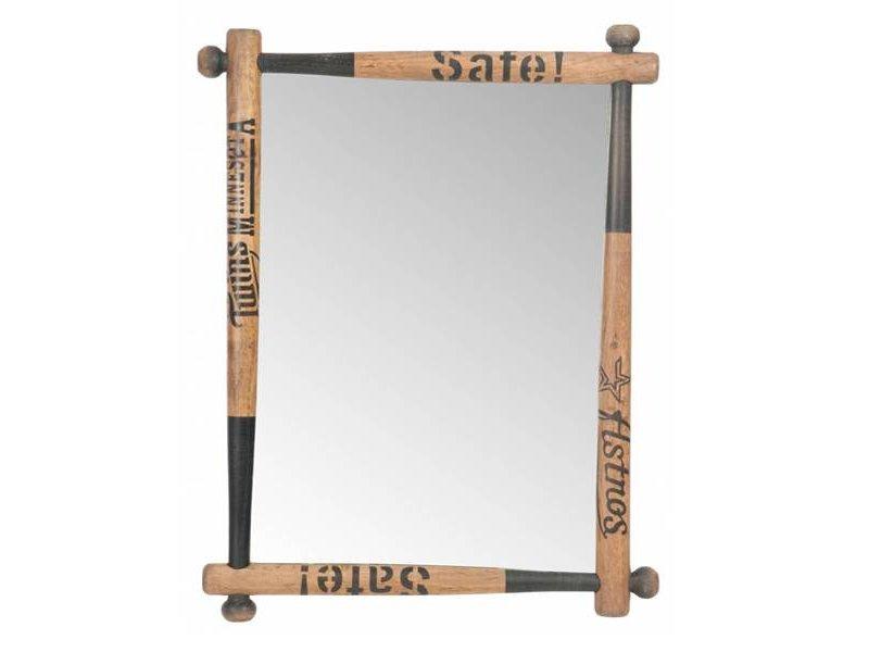 J-Line Wandspiegel Baseball - 64x6xH90 cm