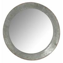 Ronde wandspiegel Grijs/Roest - Ø63 cm