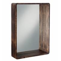 Rechthoekige Wandspiegel Bruin - 60x15xH80 cm