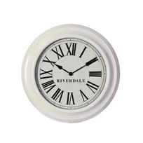 Witte Wandklok Time - Ø46 cm