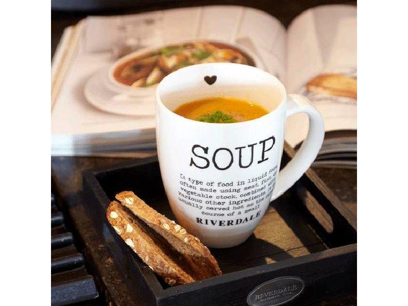 Riverdale Witte Mok Soup XL - 14x10,5xH13,5 cm