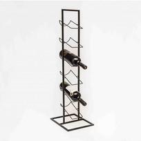Zwart Metalen Wijnrek - 27x22xH84 cm