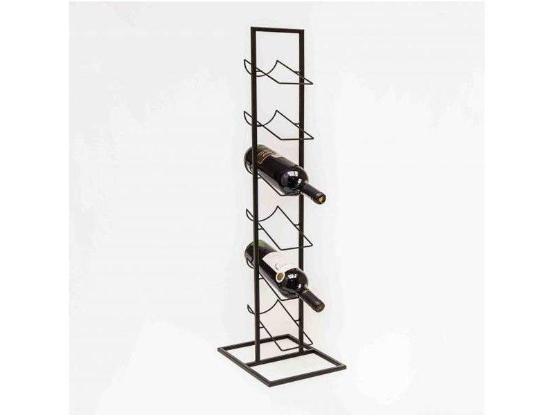 GeWoon Zwart Metalen Wijnrek - 27x22xH84 cm