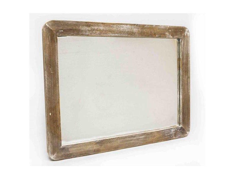 GeWoon Grijs Houten Wandspiegel - 65x2,5xH40 cm