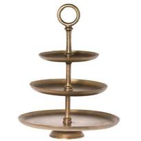 Gouden Etagere York - Ø45,5xH60 cm