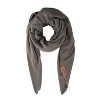 Stoere grote sjaal steengrijs