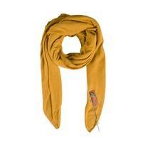 Stoere grote sjaal oker