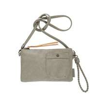 Eenvoudige tas zeegrijs - 25x2xH15 cm