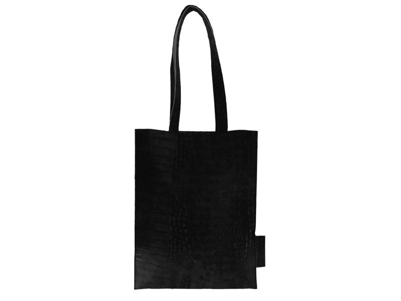 Zusss Platte tas kroko zwart - 32xH40 cm