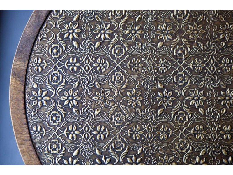 By-Boo Bijzettafel Jafar Mangohout - Ø40xH50 cm