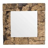 Wandspiegel Teakhout - 80x5xH80 cm