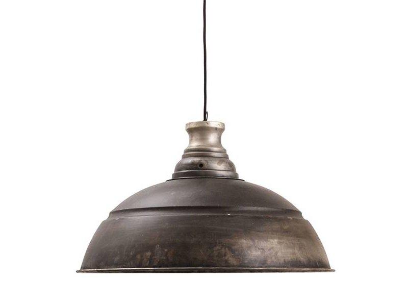 PTMD Collection Grijze metalen hanglamp Walton - Ø60xH35 cm