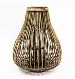 GeWoon Bamboe Lantaarn Druppel - Ø38xH52 cm