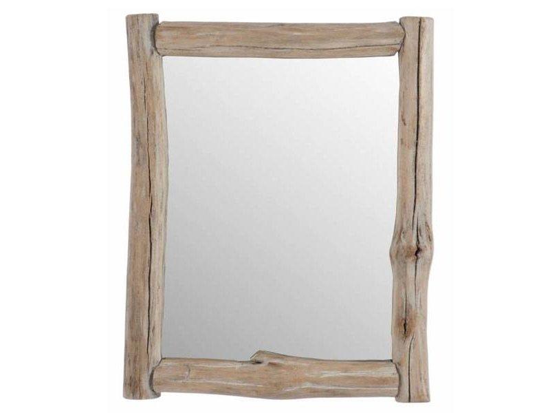 J-Line Houten Wandspiegel Naturel - 54x5xH70,5 cm