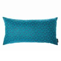 Kussen Flower Emerald Blauw - 60xH30 cm