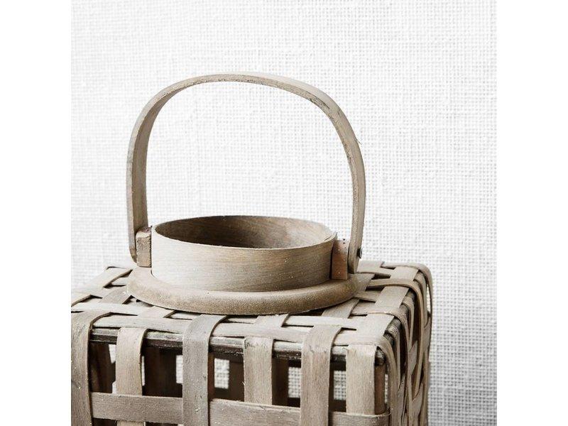 House Doctor Lantaarn Greywash Hout - 20x20xH42 cm