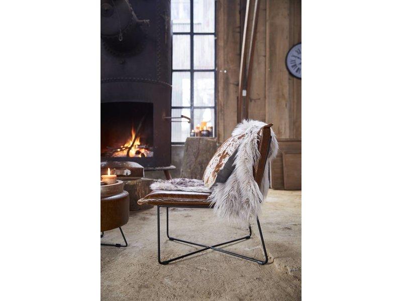 Riverdale Vacht Feather Wit/Bruin - 75x120 cm