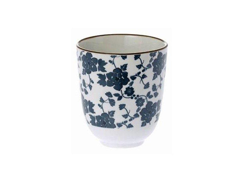 Riverdale Blauwe Mok Floral - Ø8xH8 cm