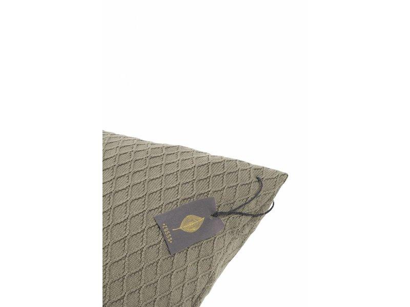 Zusss Kussen gebreid klei-grijs - 45xH45 cm