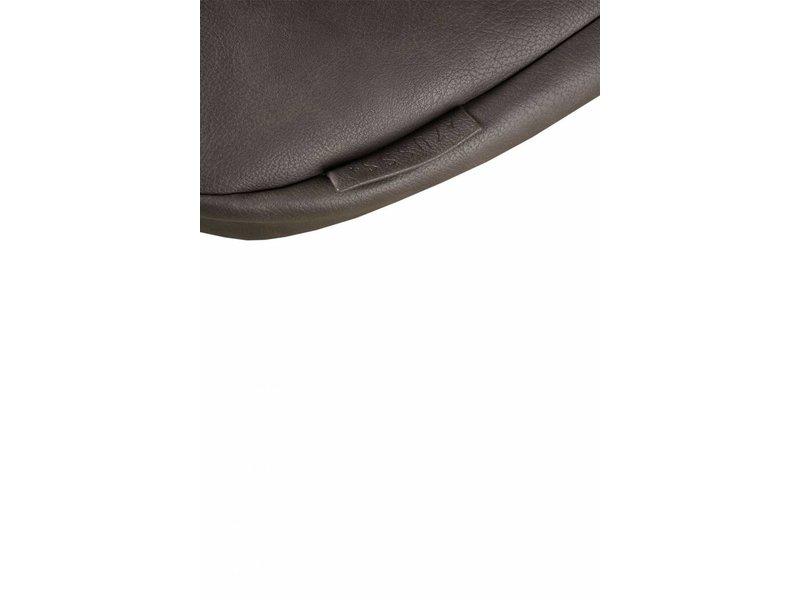 Ronde hippe schoudertas leemgrijs L - 31x8xH34 cm