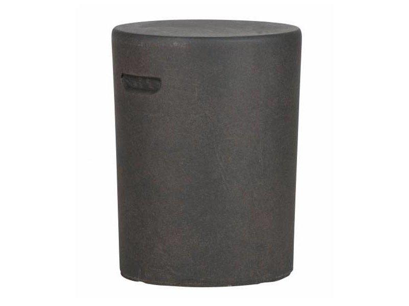Woood Bruine Bijzettafel Duke Betonlook - Ø35xH45 cm