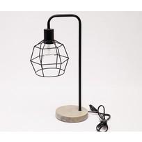 Zwarte Tafellamp Grafisch - 28x15xH49 cm