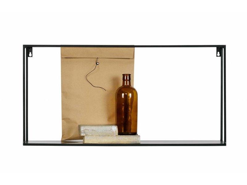 Woood Zwarte Wandplank Meert - 70x20xH35 cm