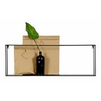 Zwarte Wandplank Meert - 100x20xH35 cm