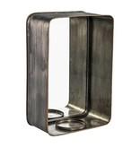 PTMD Collection Metalen Spiegel met Kaarsenhouder - 30x14xH45 cm