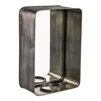 Metalen Spiegel met Kaarsenhouder - 30x14xH45 cm