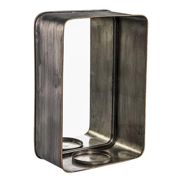 PTMD Collection Metalen Spiegel met Kaarsenhouder 30x14xH45 cm
