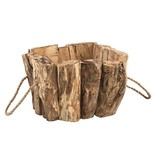 PTMD Collection Vierkante Bloempot Wilson Hout - 26x26xH19 cm