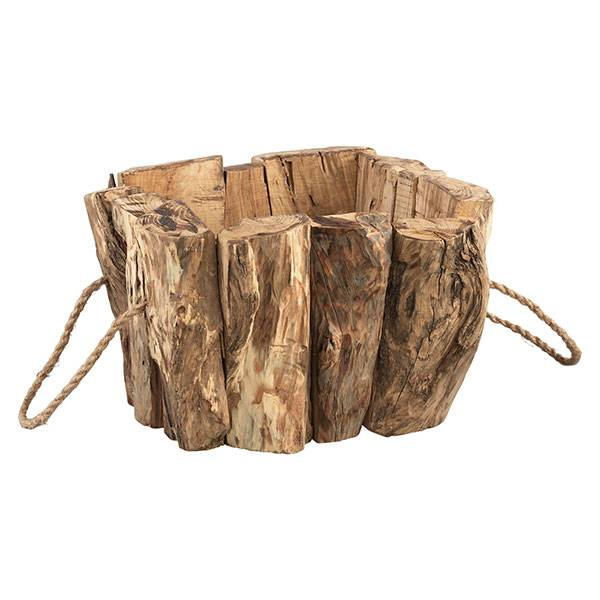 PTMD Collection Vierkante Bloempot Wilson Hout 26x26xH19 cm