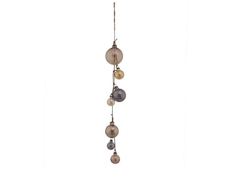PTMD Collection Snoer met glazen kerstballen - Ø13xH125 cm