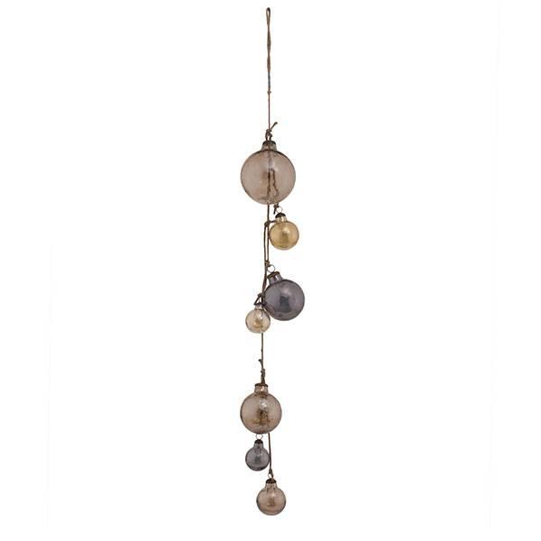 PTMD Collection Snoer met glazen kerstballen Ø13xH125 cm