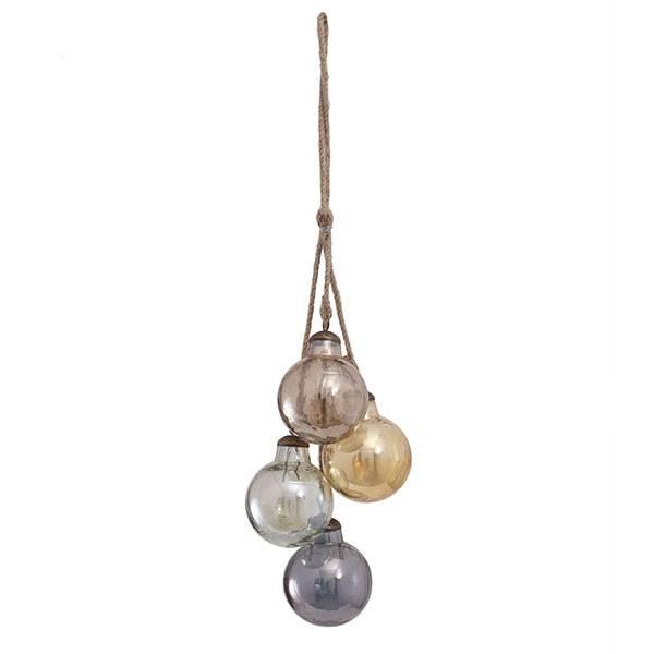PTMD Collection Snoer met glazen kerstballen Ø8xH50 cm