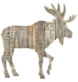 PTMD Collection Grijs Houten Rendier - 59x2,5xH61 cm