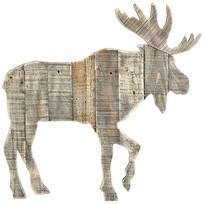 Grijs Houten Rendier - 59x2,5xH61 cm