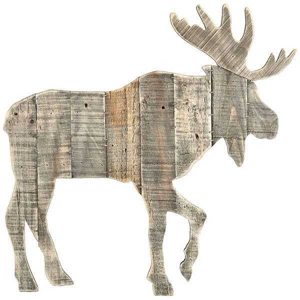 PTMD Collection Grijs Houten Rendier 59x2,5xH61 cm