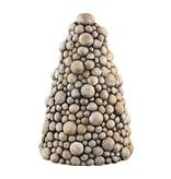 PTMD Collection Kerstboom Flux Cement - Ø21xH31 cm