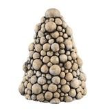 PTMD Collection Kerstboom Flux Cement - Ø19xH25 cm