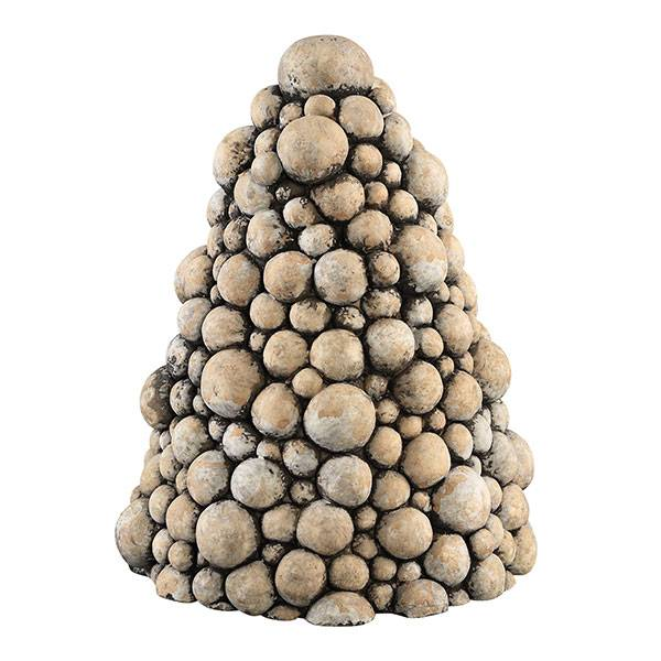 PTMD Collection Kerstboom Flux Cement Ø19xH25 cm