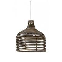 Grijze rotan hanglamp - Ø40xH42 cm