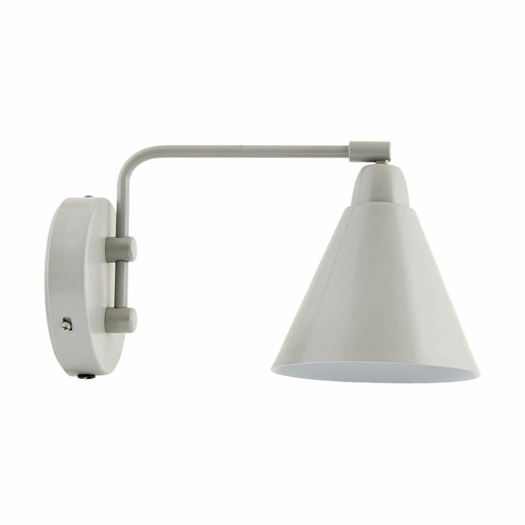 House Doctor Wandlamp Game Grijs Wit 17x14xH29 cm