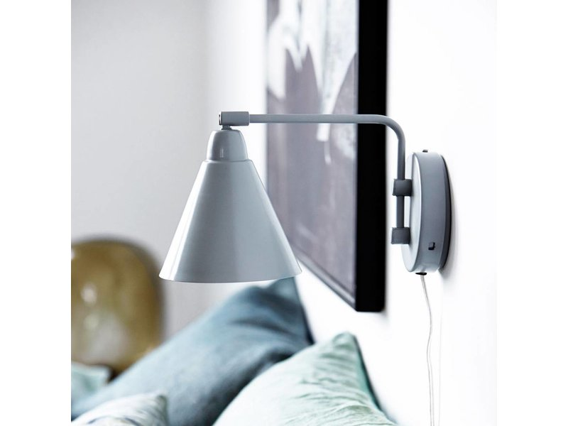 House Doctor Wandlamp Game Grijs/Wit - 17x14xH29 cm