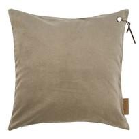 Kussen fluweel klei-grijs - 45xH45 cm