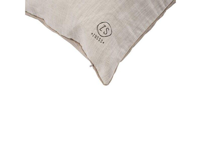 Zusss Kussen fluweel klei-grijs - 45xH45 cm