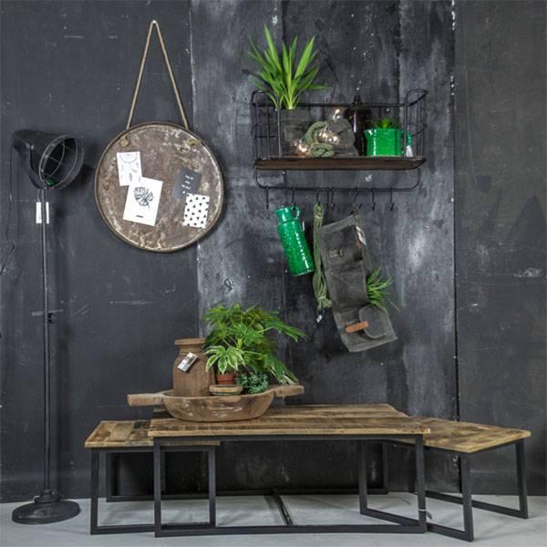 GeWoon Salontafel hout metaal 110,5x65,5xH40 cm